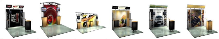 <H2> Alumalite Hybrid Modular Displays | 10 Foot | 20 Foot | Monitors | Starting Under $1600 <H2>