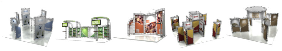 <H2> Truss Exhibits | Modular Displays | Custom Graphics | 10 x 10 | 10 x 20 | 20 x 20 | Complete Packages Starting Under $ 2,200 </H2>