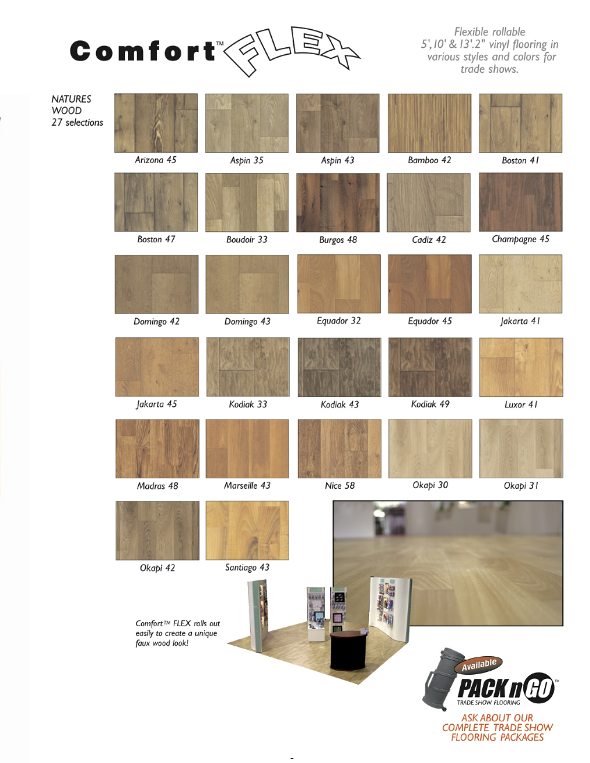 Comfort Flex Vinyl Flooring for Trade Shows: Same Product as FlexFloor, Flexible rollable vinyl flooring in various styles and colors for trade shows Page 3