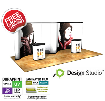 20' Economy Pop Up Trade Show Displays